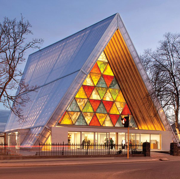Cardboard Cathedral - New Zealand - Arch. Shigeru Ban