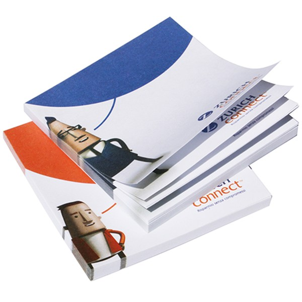 Branded sticky notepad. Bespoke post-it notepads