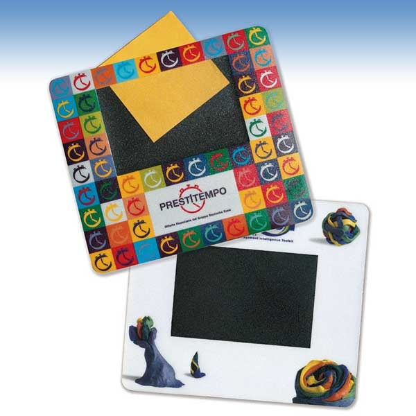 Mousepad with picture frame or advertising insertion