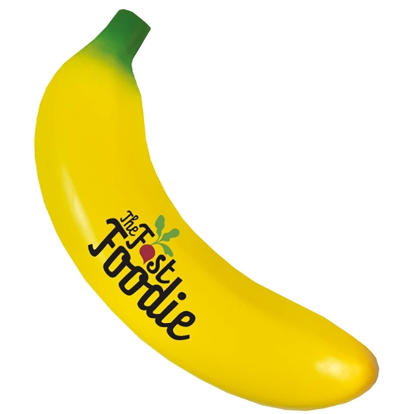 bespoke banana stress reliever with logo