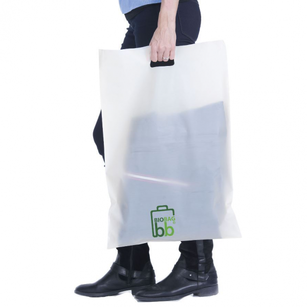 Shopper ecologica compostabile con logo in mater bi 37x45 cm