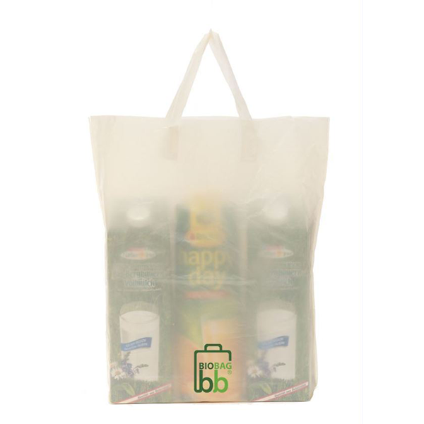 Shopper ecologica compostabile con logo in mater bi 44x45x8 cm