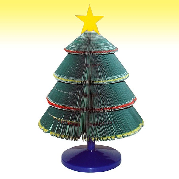 Xmas tree shaped three-dimensional Notepad Margherita