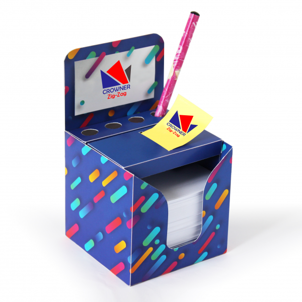 Zig.Zag notepad with penholder