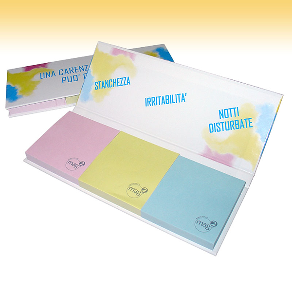Triple hard cover sticky notepad