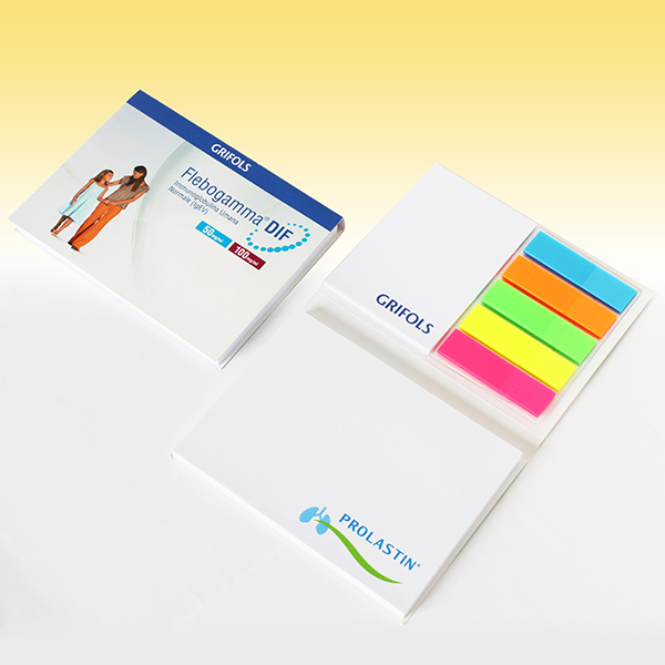 Promotional notepad with cover 102x75 mm with index