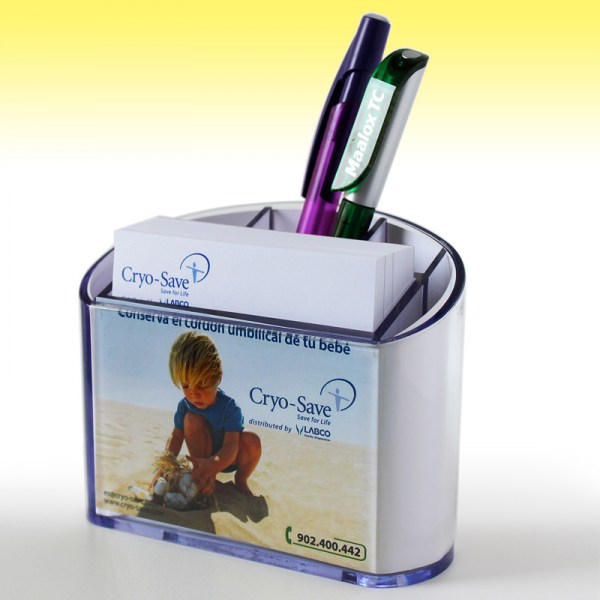 Plastic Transparent Paperholder with Penholder
