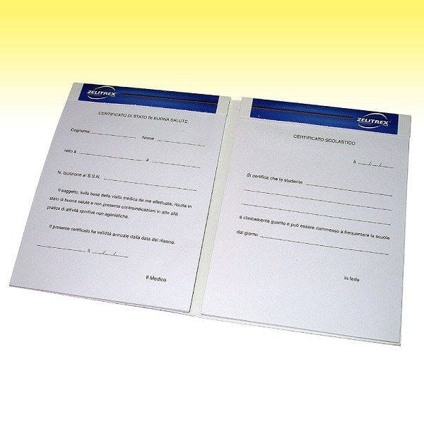Double medical prescription notepad