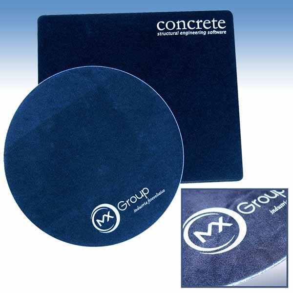 "Mouse pad made of soft velvet ""Alcantara"" effect, customized with logo printing"