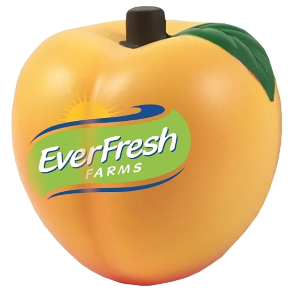 peach stress reliever. Optional keyring