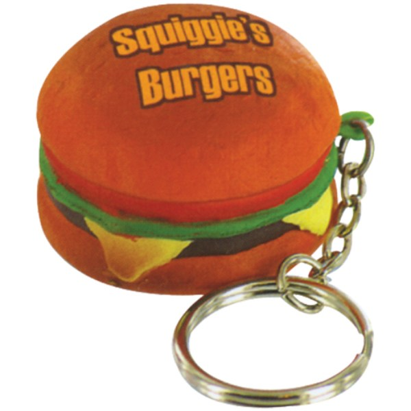 Stress Hamburger Keyring