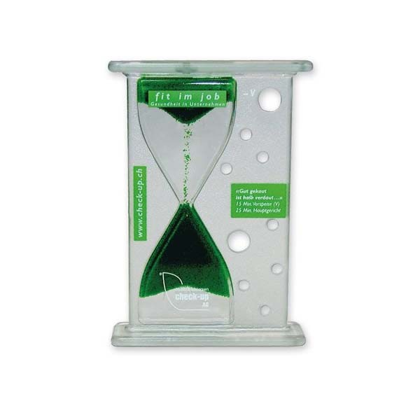 Promotional and customizad hourglass with liquids
