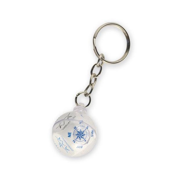 keyring with liquids and floatings