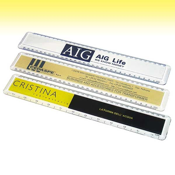 Tailor made promotional transparent ruler